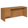 HON 10500 Series 3/4-Height Left Pedestal Credenza, 72w x 24d x 29-1/2h, Harvest