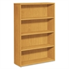 HON 10500 Series Laminate Bookcase, Four-Shelf, 36w x 13-1/8d x 57-1/8h, Harvest