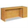 HON 10700 Series Right Pedestal Credenza, 72w x 24d x 29 1/2h, Harvest