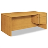 "HON 10500 Series Large ""L"" or ""U"" Right 3/4-Height Ped Desk, 72 x 36, Harvest"