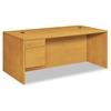 "10500 Series Large ""L"" or ""U"" 3/4-Height Ped Desk, 72w x 36d, Harvest"