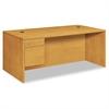 "HON 10500 Series Large ""L"" or ""U"" 3/4-Height Ped Desk, 72w x 36d, Harvest"