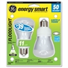GE Compact Fluorescent Bulb, 11 Watt, R20 Reflector, Soft White, 2/Pack