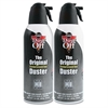 Disposable Compressed Air Duster, 10 oz Cans, 2/Pack
