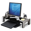 Fellowes Professional Series Flat Panel Workstation, 25 7/8 x 11 1/2 x 4 1/2,Black/Silver