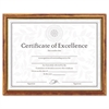 Two-Tone Document/Diploma Frame, Wood, 8 1/2 x 11, Maple w/Gold Leaf Trim