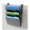 deflecto Three-Pocket File Partition Set with Brackets, Letter, Smoke