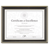 DAX Gold-Trimmed Document Frame w/Certificate, Wood, 8 1/2 x 11, Black