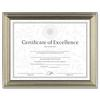 Antique Colored Document Frame w/Certificate, Plastic, 8 1/2 x 11, Bronze