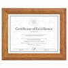 DAX Document/Certificate Frame, Wood, 8-1/2 x 11, Stepped Oak