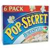 Pop Secret Microwave Popcorn, Homestyle, 3.5oz Bags, 6/Box