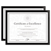 DAX Value U-Channel Document Frames w/Certificates, 8 1/2 x 11, Black, 2/Pack