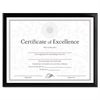 DAX Value U-Channel Document Frame w/Certificates, 8 1/2 x 11, Black