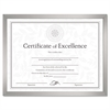 Value U-Channel Document Frame w/Certificates, 8 1/2 x 11, Silver