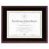 Hardwood Document/Certificate Frame w/Mat, 11 x 14, 8 1/2 x 11, Mahogany