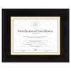 DAX Hardwood Document/Certificate Frame w/Mat, 11 x 14, 8 1/2 x 11, Black