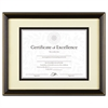 Gold-Trimmed Document Frame, Wood, 11 x 14, 8 1/2 x 11, Black