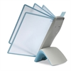 SHERPA Style Desk Reference System, 20 Sheet Capacity, Light Blue