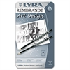 LYRA Graphite Art Pencils, Black, 12/Pack