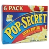 Pop Secret Microwave Popcorn, Extra Butter, 3.5oz Bags, 6/Box
