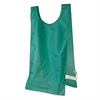 s Heavyweight Pinnies, Nylon, One Size, Green, 12/Box
