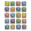 Peel and Stick Gemstone Stickers, Smiley Face, 20/Pack