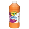 Artista II Washable Tempera Paint, Orange, 32 oz