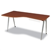 iFlex Series Full Table, 65w x 31d x 29h, Cherry/Silver