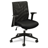 VL571 Series Mid-Back Work Chair, Mesh Back, Fabric Seat, Black