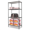 Alera Wire Shelving Starter Kit, Four-Shelf, 36w x 18d x 72h, Black Anthracite