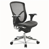 Alera Alera EQ Series Ergonomic Multifunction Mid-Back Mesh Chair, Aluminum Base