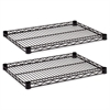 Industrial Wire Shelving Extra Wire Shelves, 24w x 18d, Black, 2 Shelves/Carton