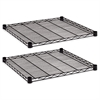 Industrial Wire Shelving Extra Wire Shelves, 24w x 24d, Black, 2 Shelves/Carton