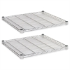 Industrial Wire Shelving Extra Wire Shelves, 24w x 24d, Silver, 2 Shelves/Carton