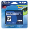 "Brother P-Touch TZe Standard Adhesive Laminated Labeling Tape, 1/2""w, Black on Clear"