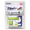 "Brother P-Touch TZ Standard Adhesive Laminated Labeling Tape, 1/2"" x 16-2/5 ft, White/Lime Green"