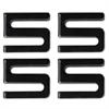 Wire Shelving S Hooks, Metal, Black, 4 Hooks/Pack