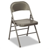 Cosco 60-810 Series All Steel Folding Chairs, Dark Gray, 4/Carton