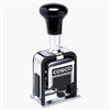 COSCO 2000PLUS Automatic Numbering Machine, 6 wheels, Self-Inking, Black 3/4 x 1/4