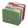 Earthwise by Pendaflex Recycled File Folders, 1/3 Top Tab, Ltr, Assorted, 50/BX