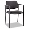 Alera Sorrento Series Stacking Guest Chair, PVC-Free Faux Leather, Black