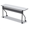OfficeWorks Mobile Training Table, Rectangular, 72w x 18d x 29h, Gray/Charcoal