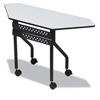 OfficeWorks Mobile Training Table, Trapezoid, 48w x 18d x 29h, Gray/Charcoal