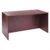 Valencia Series Straight Desk Shell, 59 1/8w x 29 1/2d x 29 5/8h, Mahogany