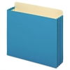 File Cabinet Pockets, Straight Cut, 1 Pocket, Letter, Blue