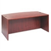 Alera Valencia Bow Desk Shell, 71w x 35 1/2d to 41 3/8d x 29 5/8h, Medium Cherry