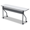 Iceberg OfficeWorks Mobile Training Table, 60w x 18d x 29h, Gray/Charcoal