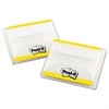 Post-it File Tabs, 2 x 1 1/2, Lined, Yellow, 50/Pack