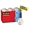 "Scotch 3850 Heavy-Duty Packaging Tape Cabinet Pack, 1.88"" x 54.6yds, 3"" Core, 18/Pack"