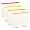 Post-it File Tabs, 2 x 1 1/2, Lined, Assorted Brights, 24/Pack